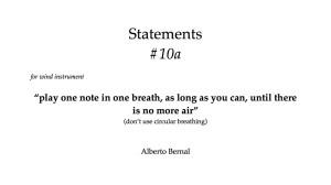 sound statements #10