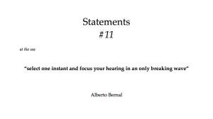 sound statements #11